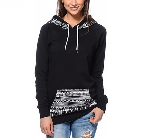 HOT Selling! Women's Printed Long Sleeve Hoodie- 50% OFF