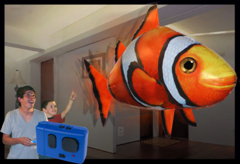 Remote Control- Air Swimming Flying Fish & Shark