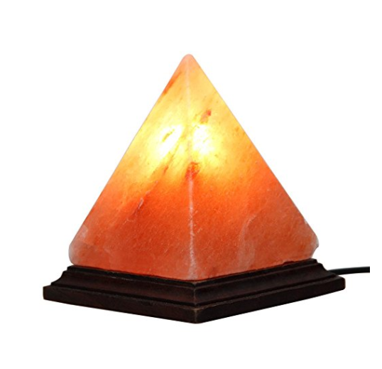 Hand Carved Himalayan Salt Lamp Pyramid