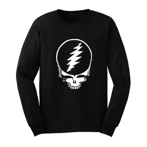 Black & White Stealie Grateful Dead Long Sleeve