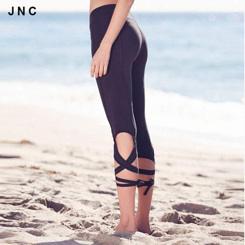 Women's Cross-Tie Design Sportswear Yoga Pants