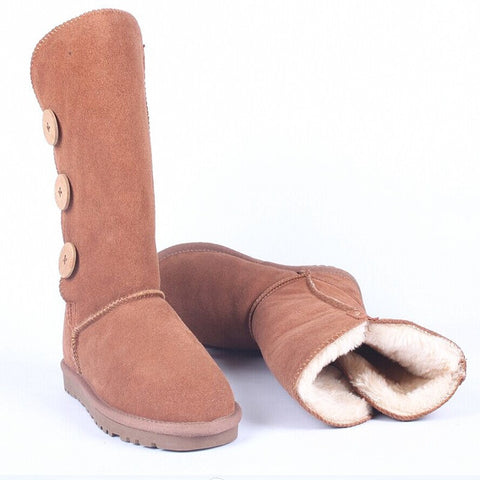 HOT Selling- Women's Knee Mid Calf Button Boots- FREE SHIPPING