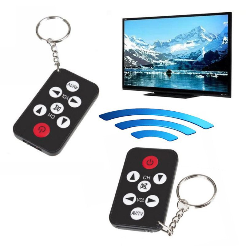 Black Mini Universal Infrared IR TV Remote Controller Keychain