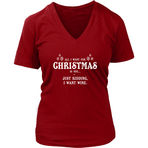 All I Want For X-Mas Is You Women's V-Neck