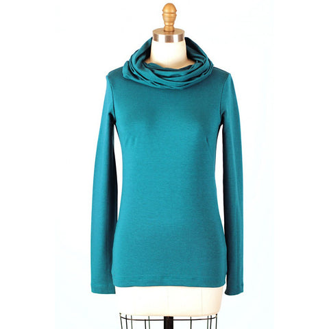 Nocturnette - Cowl Neck Top Bamboo Cotton