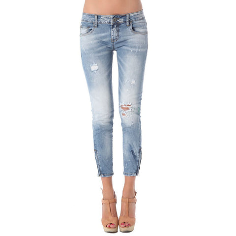 Ankle length skinny jean in high quality fabric