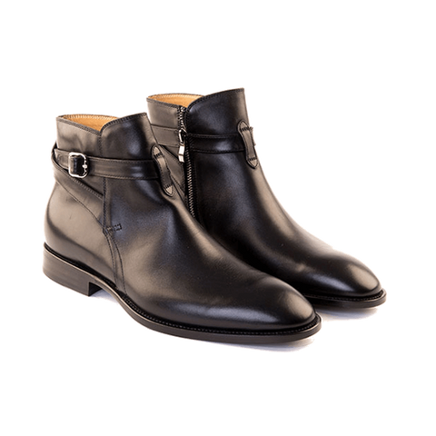 Antonio - Jodphur Boot In Black Calf Leather