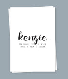Custom Birth Print NAME - Inkydot Design