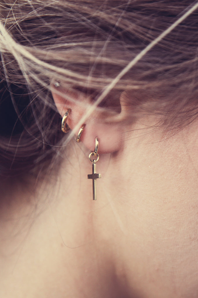 Cross Hangle 14k Rose Gold