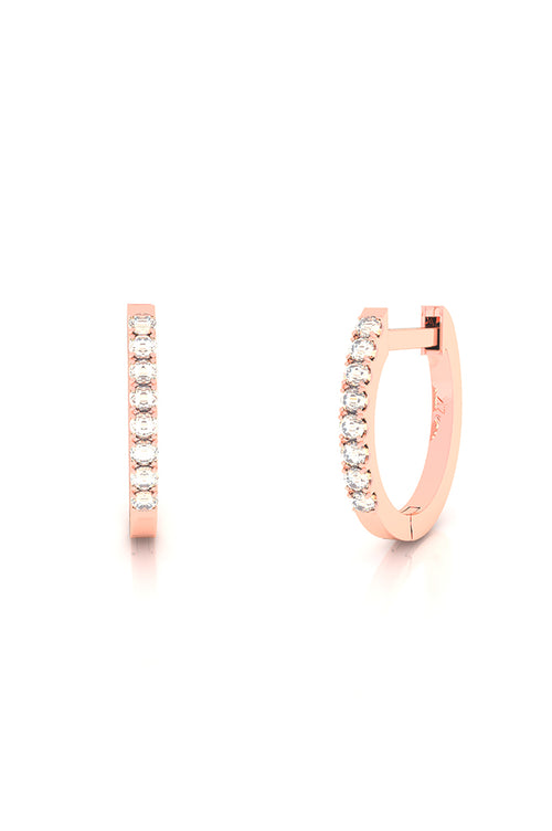Endless Huggies with Diamonds 14k Rose Gold