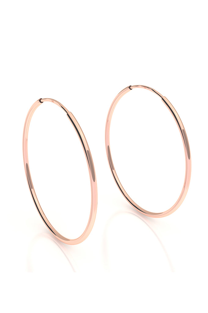 Endless Hoops 14k Rose Gold