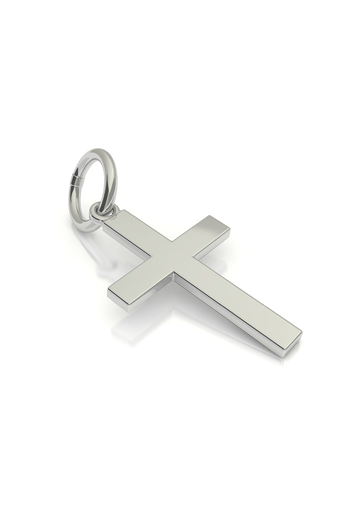 Cross Hangle 14k White Gold