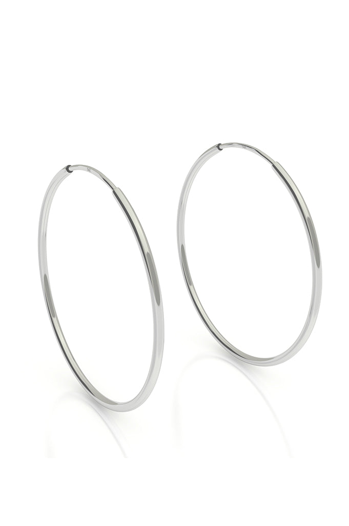 Endless Hoops 14k White Gold