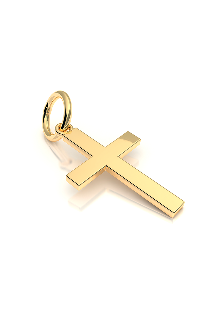 Cross Hangle 14k Yellow Gold