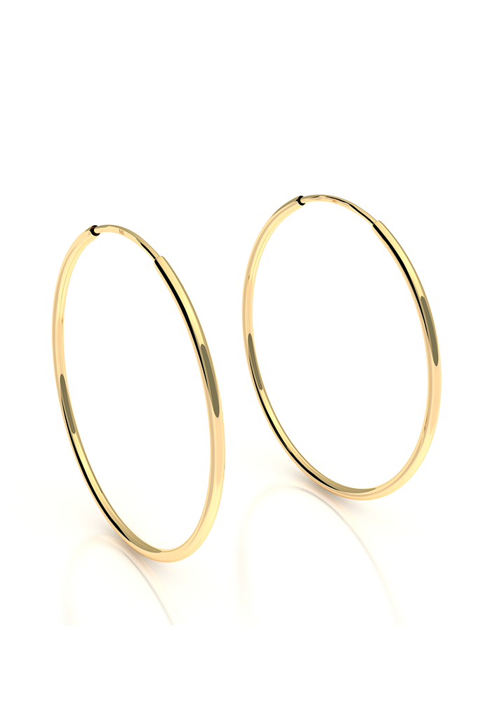 Endless Hoops 14k Yellow Gold