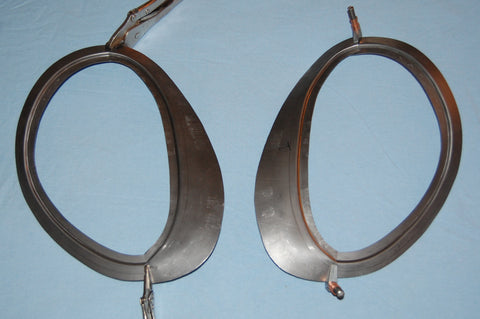 Covered Headlamp Conversion Flanges - Series 2 & 3