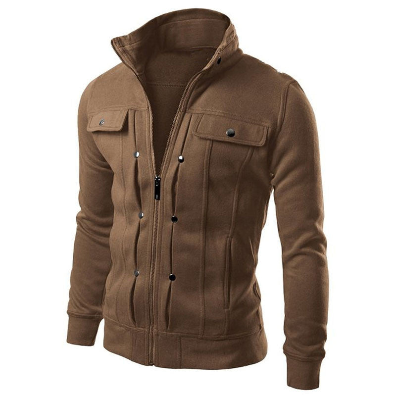Men's Hoodies Zip Up Pockets Casual Long...