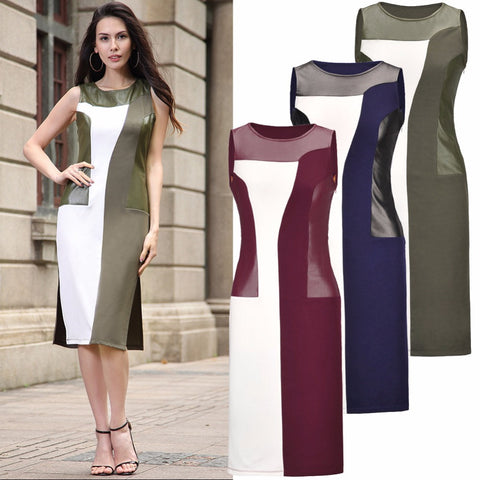 Plus Size Sleeveless Office/Party Clothing in Ivanka Trump's Style Pencil Vintage Clothing for Women-Ivanka Trump Dress-VutStore