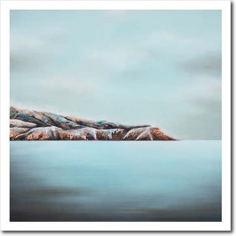 Diamond Light Pencarrow. Limited edition art print by Juliet Best. Landscape. Pencarrow Heads. NZ
