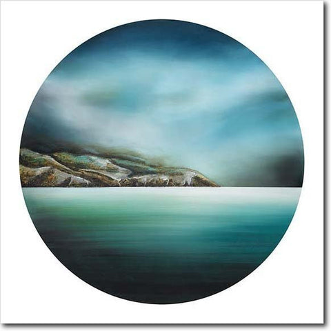 First Light - Te Whanganui a Tara. Limited edition art print by Juliet Best. Seascape. Wellington Heads. NZ.