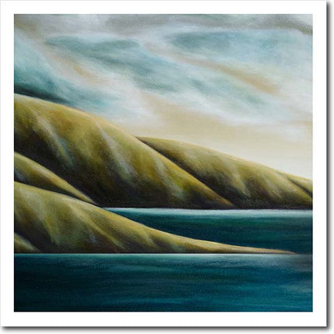 Homecoming. Limited edition art print by Juliet Best. Landscape. NZ