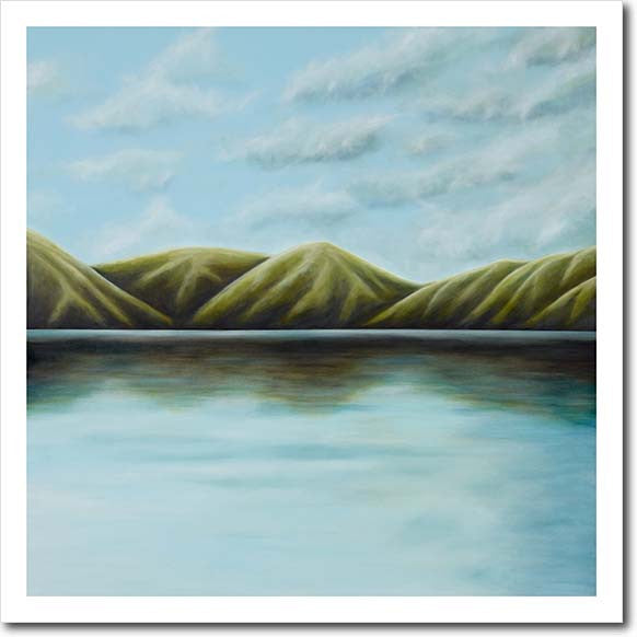 Homecoming II. Limited edition art print by Juliet Best. Landscape. NZ