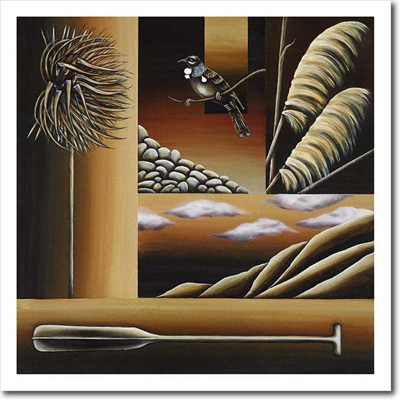 Journey This Land II. Limited edition art print by Juliet Best. NZ icons. NZ