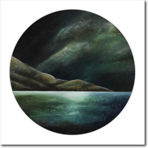 Moon Shadow Pencarrow. Limited edition art print by Juliet Best. Landscape. Pencarrow Heads. NZ
