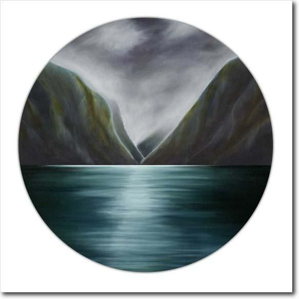 My South. Limited edition art print by Juliet Best. Seascape. Hills. NZ