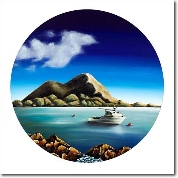 Oceans of You Tapu Te Ranga. Limited edition art print by Juliet Best. Island Bay, Taputeranga. NZ