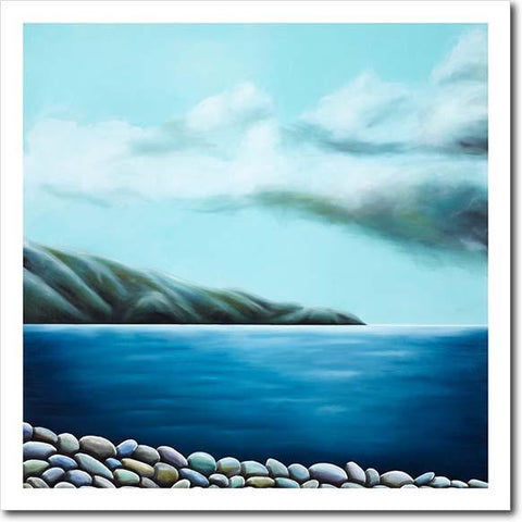 Pencarrow Serenity II. Limited edition art print by Juliet Best. Landscape. Pencarrow Heads. NZ