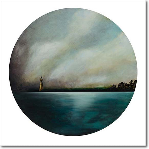 Homecoming III. Limited edition art print by Juliet Best. Lighthouse. NZ