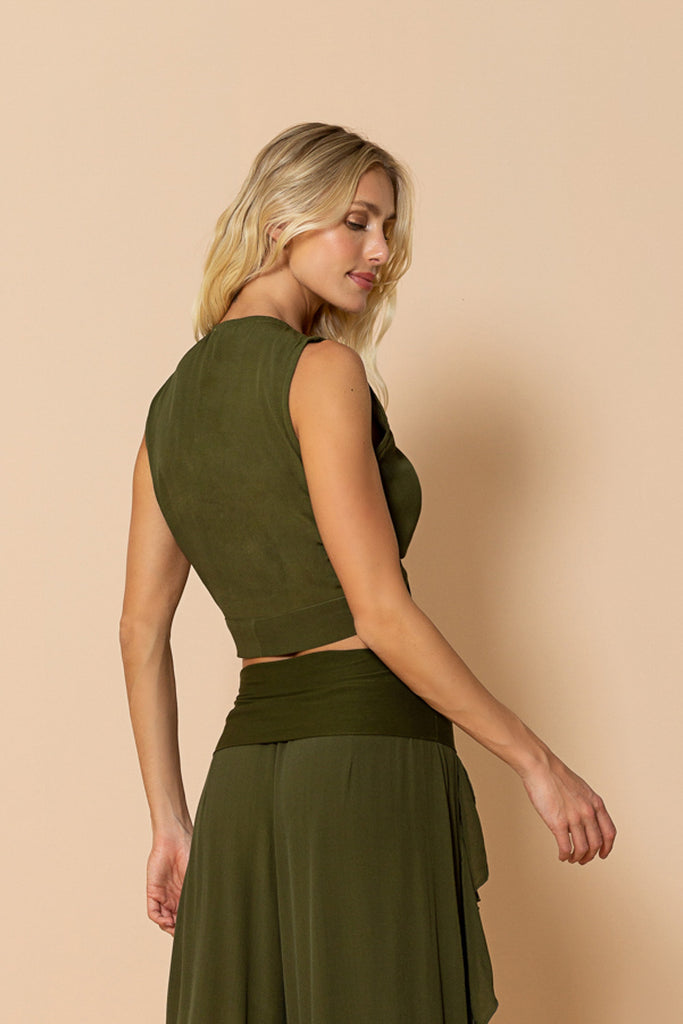 Top Laís Olive Green