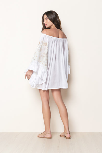 Dress Nathalie Embroidery White
