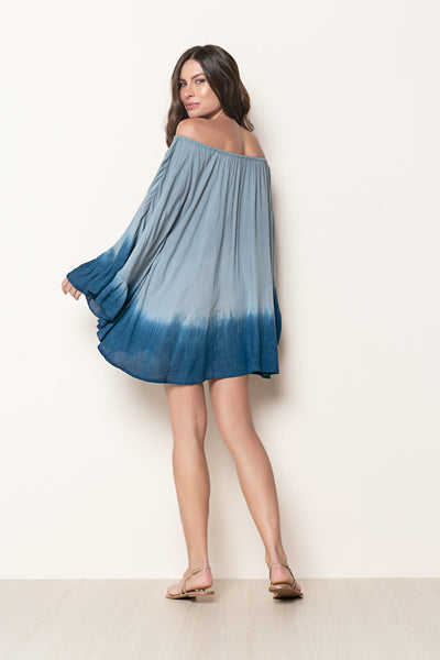 Dress Nathalie Tie Dye Blue And Navy