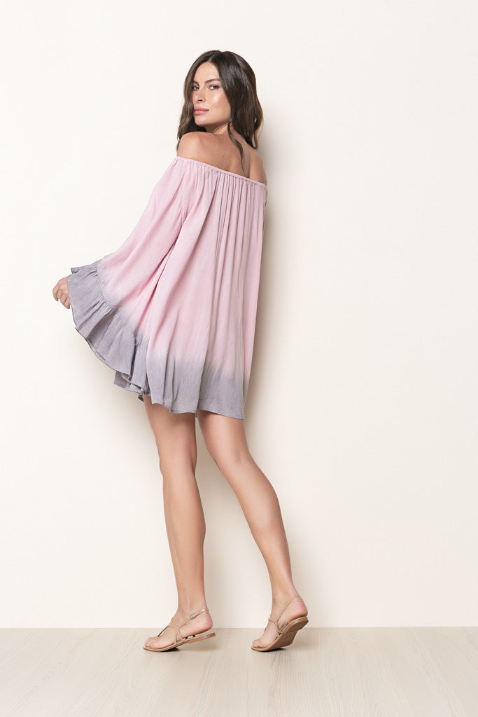 Dress Nathalie Tie Dye Rosé And Grey