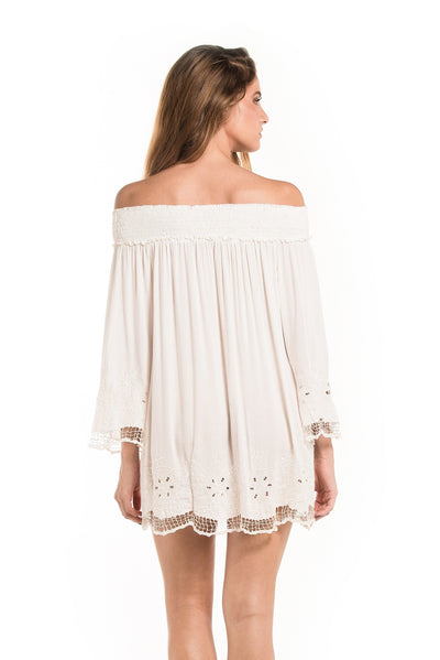Dress Ashanti Embroidery Offwhite