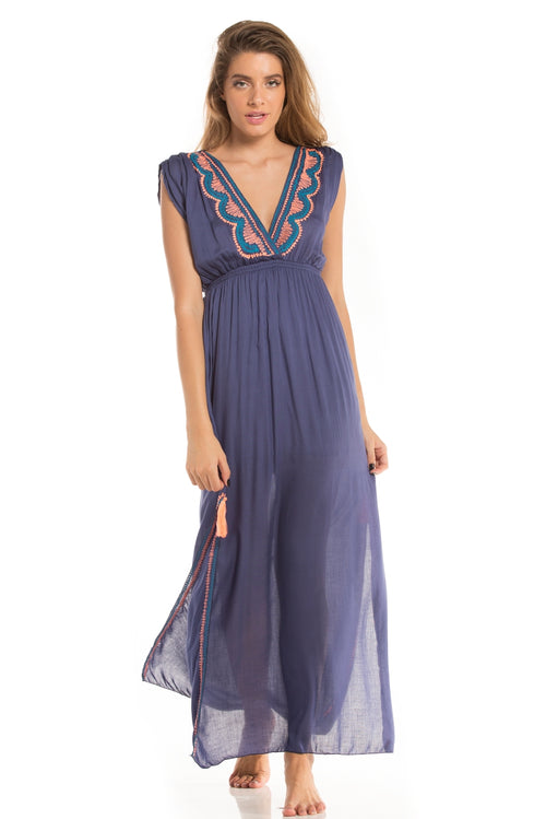 Long Dress Florence Purple Blue