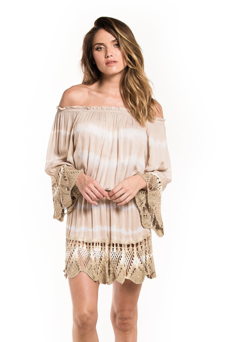 Dress Luxor Tie Dye Light Brown