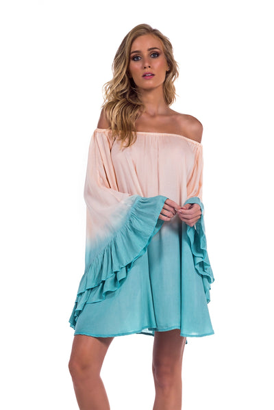Dress Nathalie Tie Dye Acqua