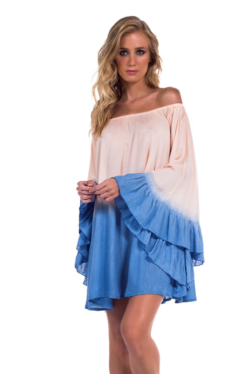 Dress Nathalie Tie Dye Blue Sky