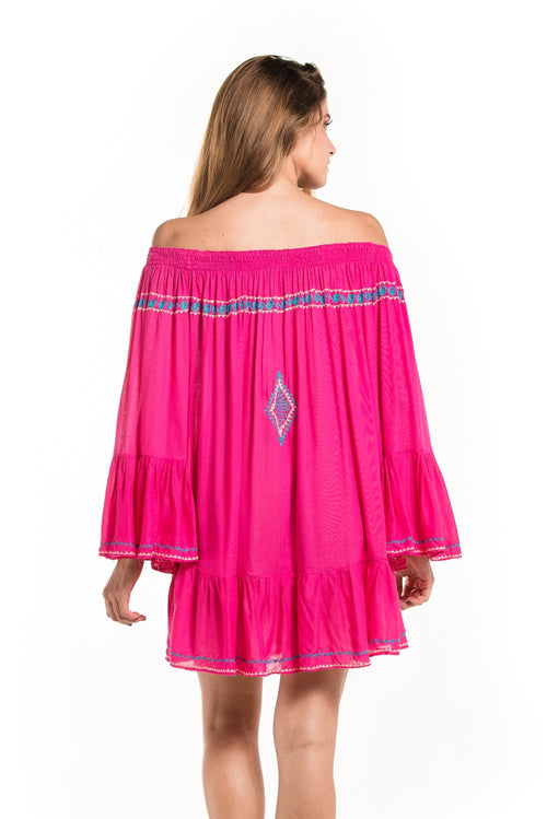 Dress Offshoulder Hermosa Pink