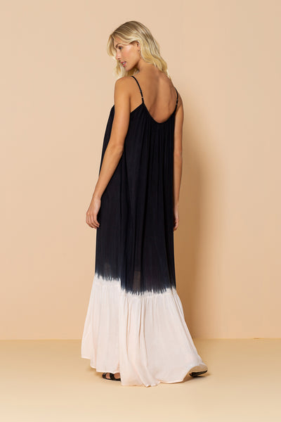 Long Dress Antônia Tie Dye Black