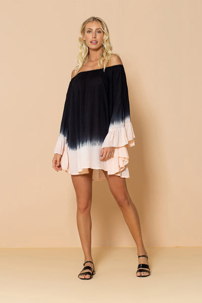 Dress Nathalie Tie Dye Black