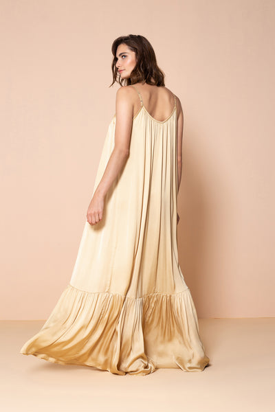 Long Dress Antônia Yellow Sand