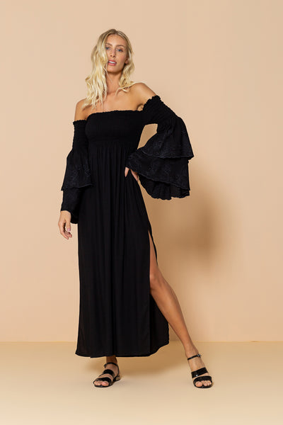 Long Dress Valentina Black