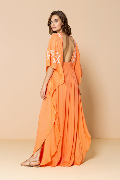 Long Caftan Layla Light Orange