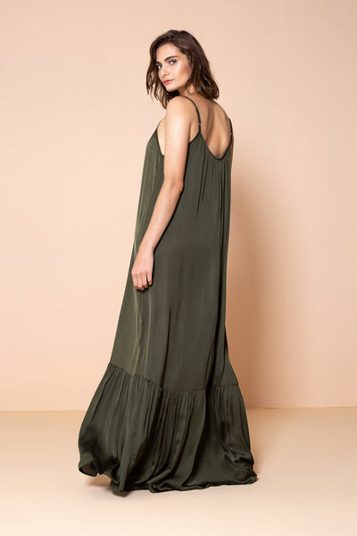 Long Dress Antônia Olive Green