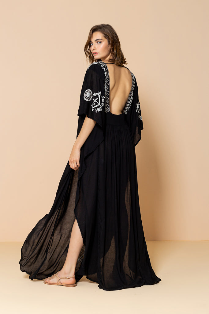 Long Caftan Layla Black