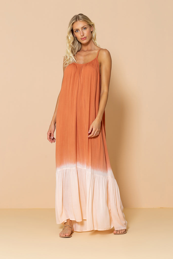 Long Dress Antônia Tie Dye Terracota